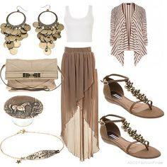 Outfit en tono arena, busca más ideas de outfits en http://mipagina.1001consejos.com/