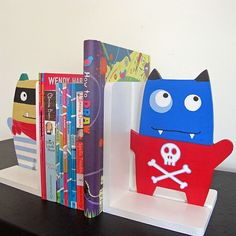 Monster Mash Bookends by redlovesgreen on Etsy, $55.00