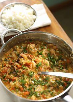 Crawfish, Shrimp, and lump crabmeat etouffee