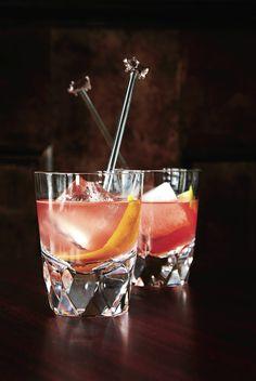 old fashioned gin + campari.