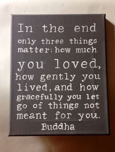 Buddha Quote Hand Painted Wall Art by livingstonandporter on Etsy, $38.00