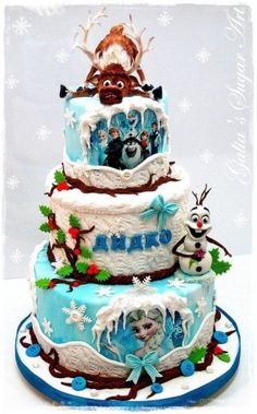 Disney's Frozen Cake Tons of party ideas @ www.partyz.co