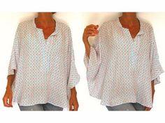 Patron de couture à télécharger avec la vidéo explicative pour le montage - Chemise - Blouse femme taille S M L XL