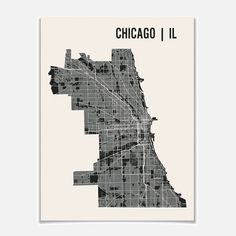 Mr City Printing: Chicago Map Print 24x18, at 14% off!