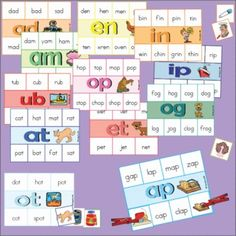 Word families / short vowel sounds are reinforced in this word family unit. The following 19 word families are covered: ad, ag, am, an, ap, at, ed, en, et, ig, in, ip, it, og, op, ot, ub, ug, and un.