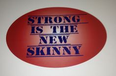 Dawn's custom #quote #walldecals for her gym. Read about how she created these on our blog! bit.ly/1lPt6db