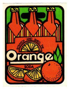 Scrtch n' Sniff Stickers - Orange Soda