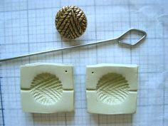 PART 1 of Violette Laporte's tutorial for making molds of buttons and using the molds to make beads.