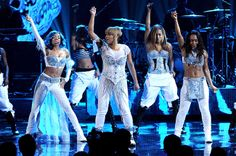 """Lil Mama performs with singers Tionne """"T-Boz"""" Watkins and Rozonda """"Chilli"""" Thomas of TLC onstage during the 2013 American Music Awards in Los Angeles, CA 