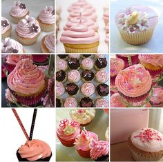 Pink and brown cupcakes