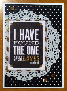 My Soul Loves Wedding Card - Scrapbook.com-  A beautiful handmade wedding card.