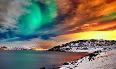 bucketlist, buckets, color, alaska, aurora borealis, northern lights, place, bucket lists, norway