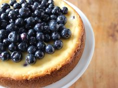 Blueberry Cheesecake -- July is National Blueberry Month! #littlechanges
