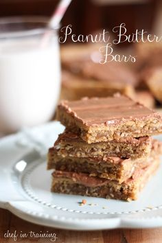 Peanut Butter Bars | Chef in Training
