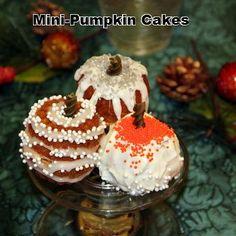Great Holiday recipe. Mini pumpkin cake recipe using a mini-bundt pan.