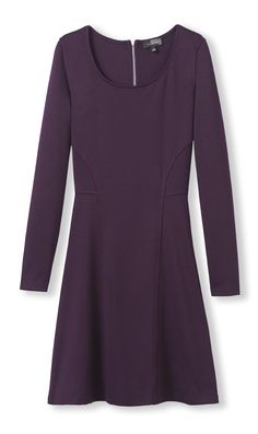 Ponte Fit & Flare Dress from THELIMITED.com #TheLimited #FitandFlare #Dress #Casual #AutumnColors #Feminine #FallFashion