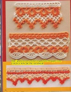 -GRAFICOS CROCHET= GRAFICOS GANCHILLO= PUNTILLAS  www.creatiblogs.es