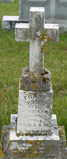 Tombstone Tuesday: Frank and Bernadina (Hut) Schroeder #genealogy #familyhistory