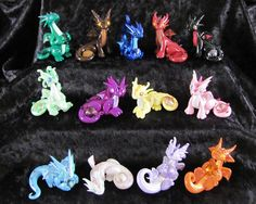 Gem Dragons  Complete Collectible Set  Made by DragonsAndBeasties,
