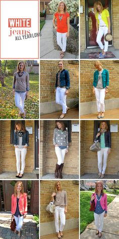 No outfits for the deep, snowy winter, but good ways to wear my white skinnies longer than spring and summer.