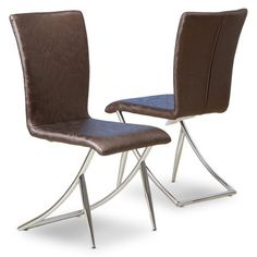 Find it at the Foundary - Best Selling Home Decor Brown Modern Chairs - Set of 2.  Thinking these chairs might be cool at my kitchen table.