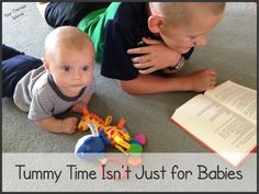 Tummy Time for All Ages from @ytherapysource  (Adults - that means you too!).