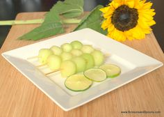 A Summer Party & Ginger Lime Honeydew Skewers (Recipe)