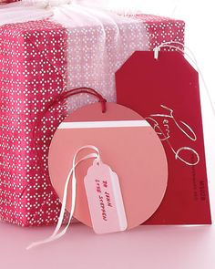 Paint Swatch gift tags