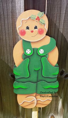 Hand Painted Wooden Gingerbread Garden Yard by stephskeepsakes, $24.99