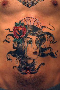 tattoo idea, sexi skin, cri girl, rose tattoo