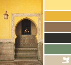 Geel en groen.