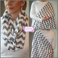 SALE Hold Me Close Nursing Scarf - Gray Chevron, Nursing Cover, Infinity Scarf on Etsy, $20.00