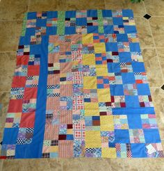 Sue Garman: New Projects, Auctions, Old Quilts... and More! orphan blocks put together by Sue Garman