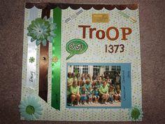 """""""My Troop"""" by Lorri Williams, as seen in the Club CK Idea Galleries. #scrapbook #scrapbooking #creatingkeepsakes"""