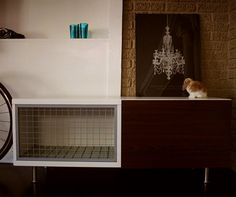 Moderne bunny hutch (with instructions at Designsponge