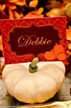 Thanksgiving place cards decorations