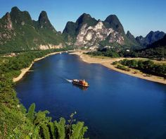 Cruising the river in China