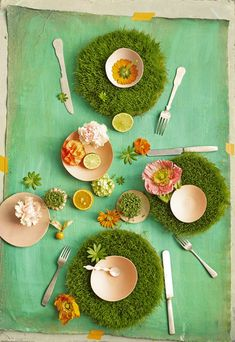 Dietlind Wolf. May 2013 Issue - A tablescape of greenery and flowers