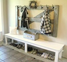 great piece for hooks in a mudroom