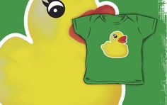 Rubber Ducky [Print / iPhone /iPod Case & Tshirt] by Damienne Bingham