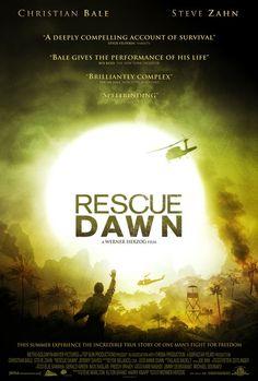 Rescue Dawn film, christians, al amanec, christian bale, werner herzog, dawn 2006, rescu dawn, favorit movi, true stories
