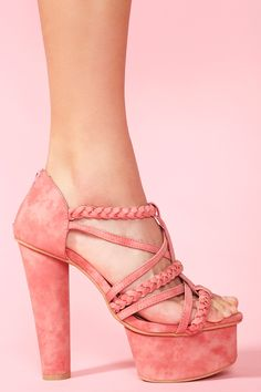 Today's So Shoe Me is the Braided Strap Pump, $58, by and available at Nasty Gal. Every girl needs a colorful pair of heels but splurging on a trend can be a bit unrealistic - that's where these braided pumps come in.