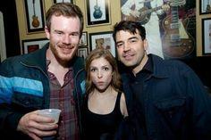 Director Joe Swanberg, Anna Kendrick, and Ron Livingston -- real life drinking buddies!