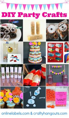 DIY Party Crafts (a collection of video tutorials) - Mad in Crafts