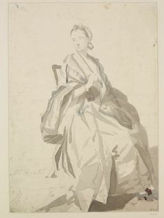 The Painter's Wife, Cotes, Francis, late 18th century, Slightly washed in Indian ink and tinted. Bequeathed by Rev. Alexander Dyce.