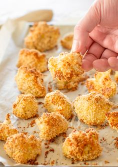 Baked Breaded Cauliflower Florets - baked not fried and 155 calories a serving! | Jo Cooks
