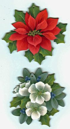 christmas floral ornaments