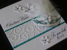 Masquerade Winter Wedding or Christmas Card  by CupidandPsyche, £4.95