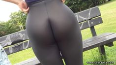 Sexy big ass girl in tight lycra spandex leggings. Lycra ass video, big butt women in spandex and lycra gym pants.