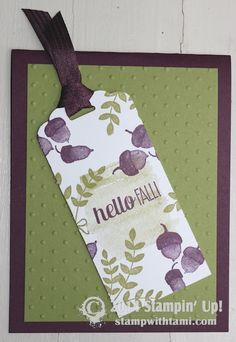 Stampin Up For All Things – Fall Card